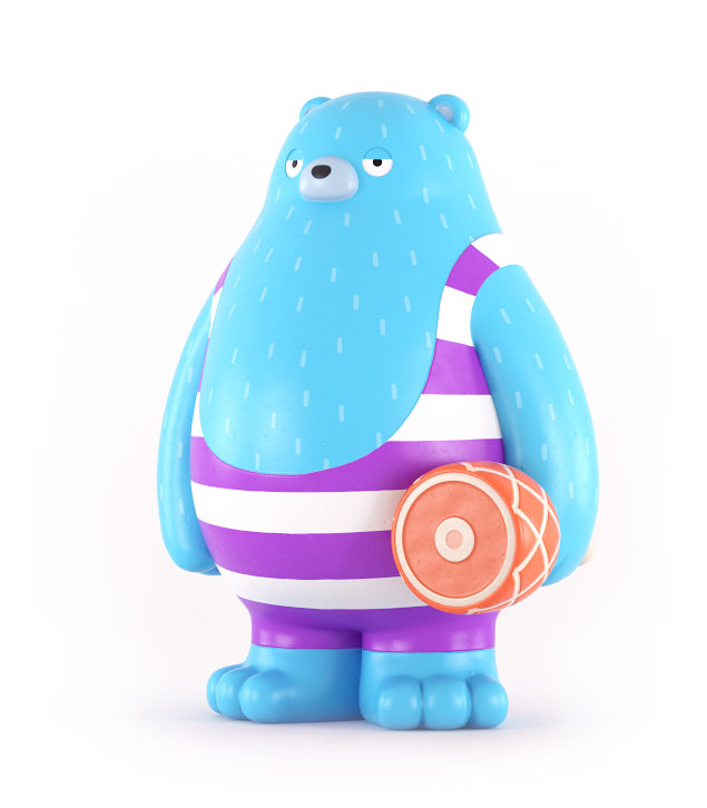 Andre the bear art toy design