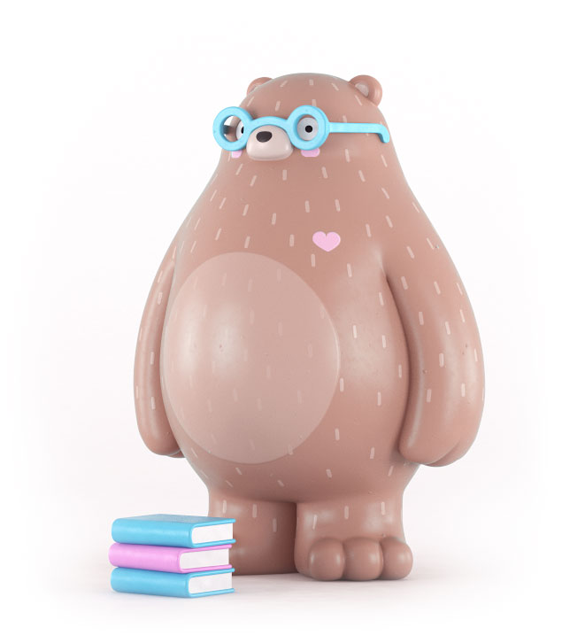 Pere the bear art toy design