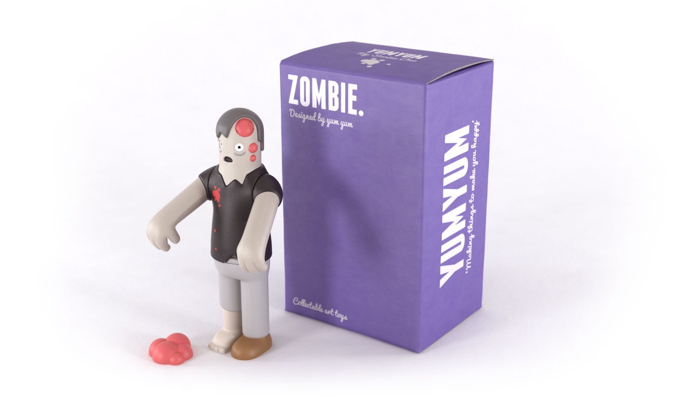 Zombie collectible art toy with box